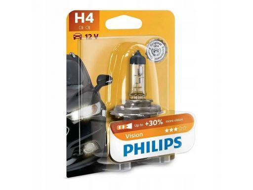 Philips h4 60/55w vision plus +30 światła p43t