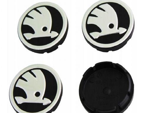Dekiel dekielek logo skoda średnica 56mm 4 sztuki