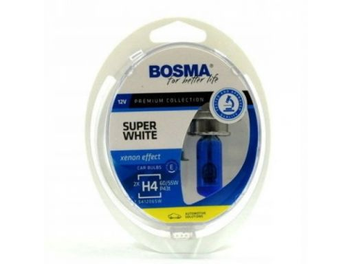 Bosma h4 60/55w super white żarówki p43t 2sztuki