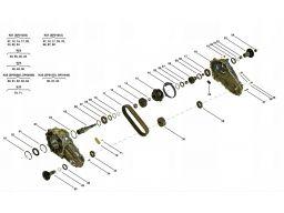 Łańcuch reduktor mercedes r 251 w251 borgwarner