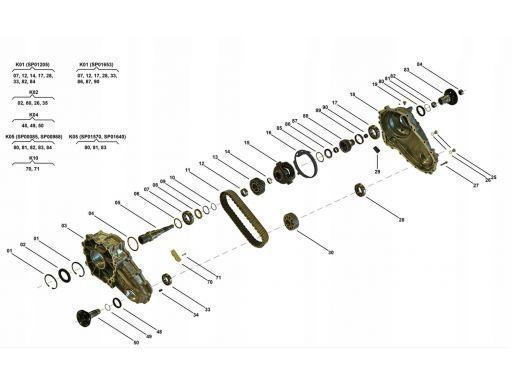 Łańcuch ślizg skrzynia rozdzielcza mercedes gls